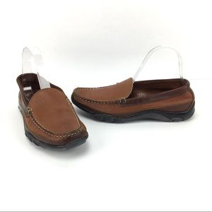 Allen Edmonds Boulder Leather Slip On Loafers